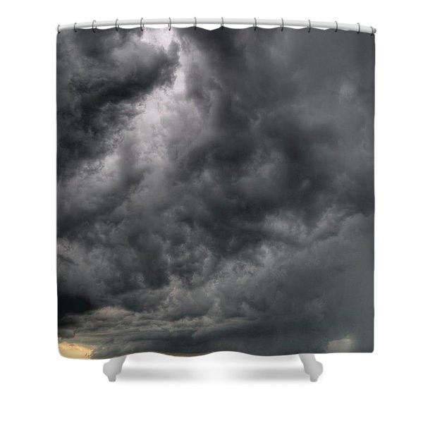 North Dakota Thunderstorm Shower Curtain
