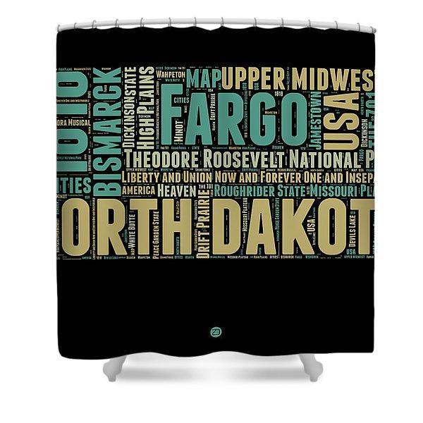 North Dakota Word Cloud 1 Shower Curtain