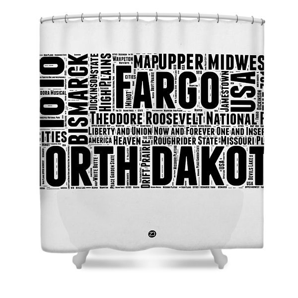 North Dakota Word Cloud 2 Shower Curtain