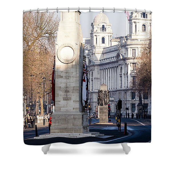 North Facade Of Cenotaph War Memorial Whitehall London Shower Curtain