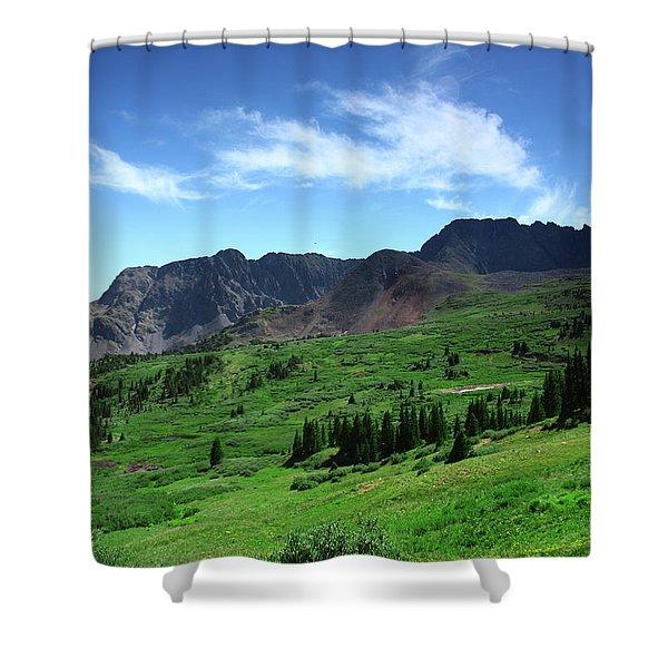North Fork Lake Shower Curtain