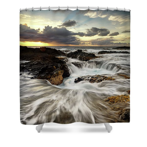 North Kona Coastline Shower Curtain