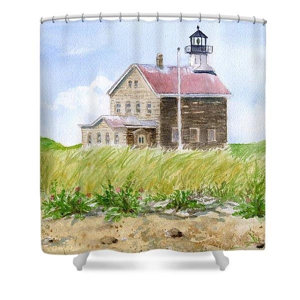 North Light - Block Island Shower Curtain