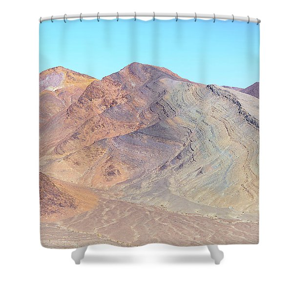 Shower Curtain featuring the photograph North Of Avawatz Mountain by Jim Thompson