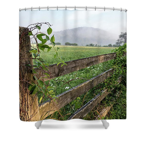 North Road View Shower Curtain