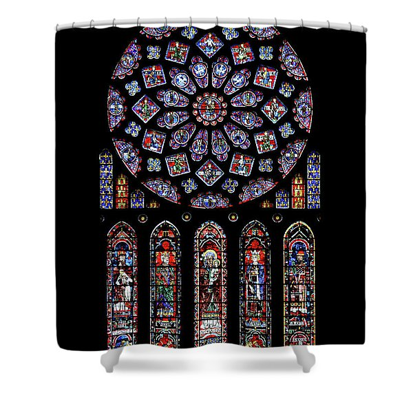 North Rose Window Of Chartres Cathedral Shower Curtain