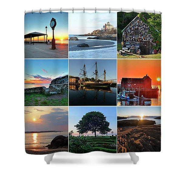 North Shore Massachusetts Collage Shower Curtain