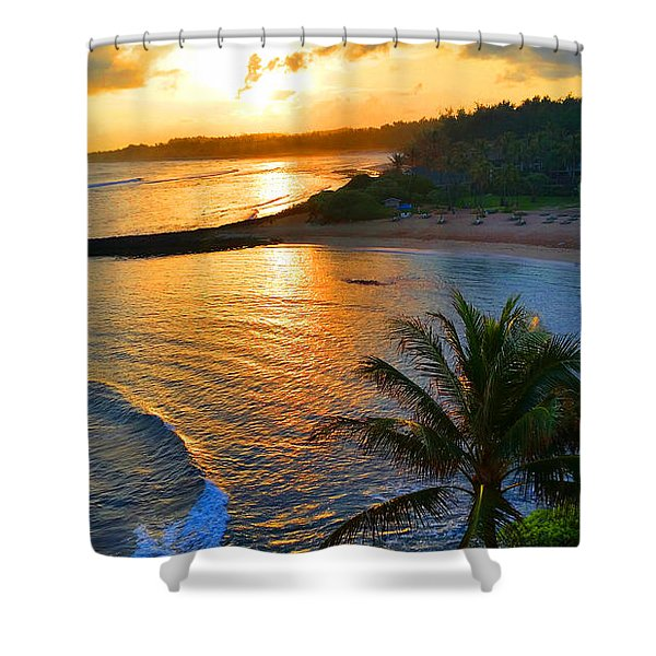 North Shore Of Oahu  Shower Curtain