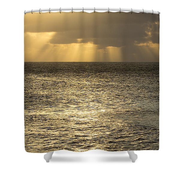 North Shore Sunset Glow Shower Curtain