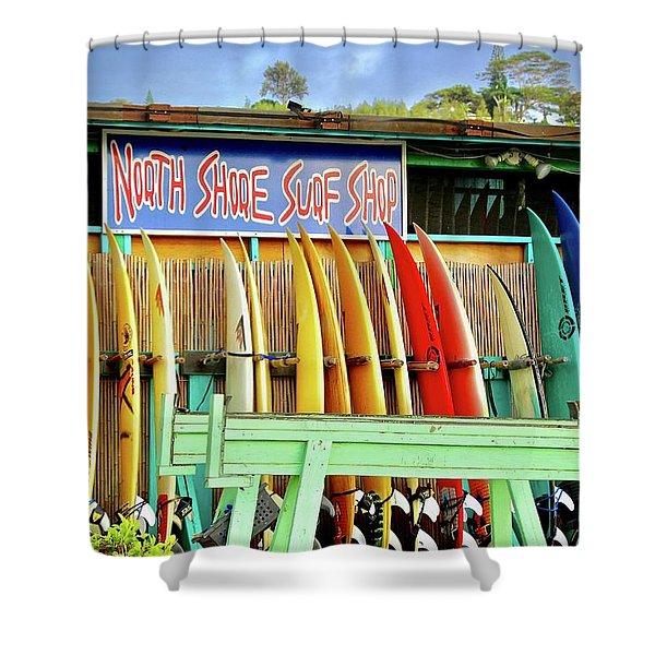 North Shore Surf Shop 1 Shower Curtain