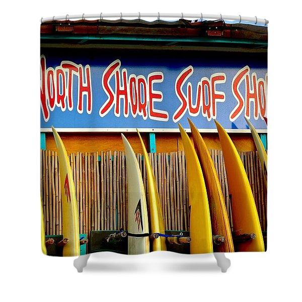North Shore Surf Shop 2 Shower Curtain