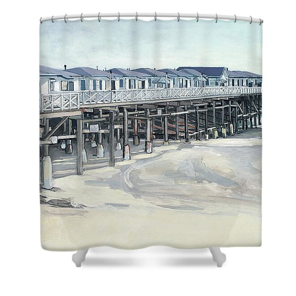 Here And Beyond Shower Curtain