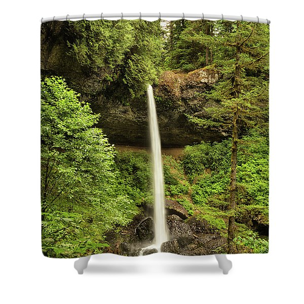 Shower Curtain featuring the photograph North Silver Falls by Mary Jo Allen