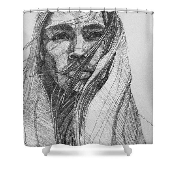 North Wind  Shower Curtain