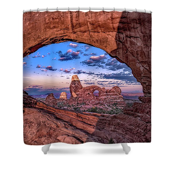 North Window At Sunrise Shower Curtain