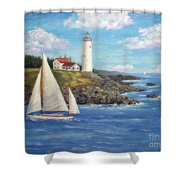 Northeast Coast Shower Curtain