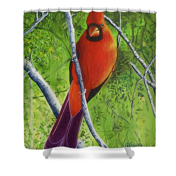 Northern Cardinal 1 Shower Curtain