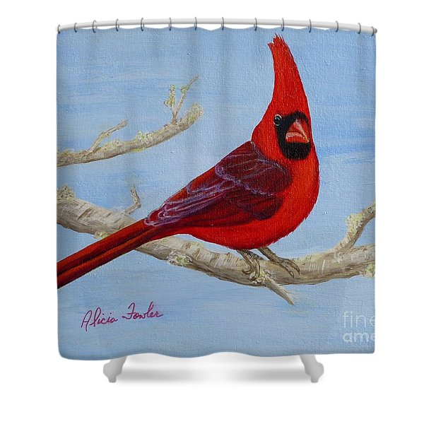 Northern Cardinal 2 Shower Curtain