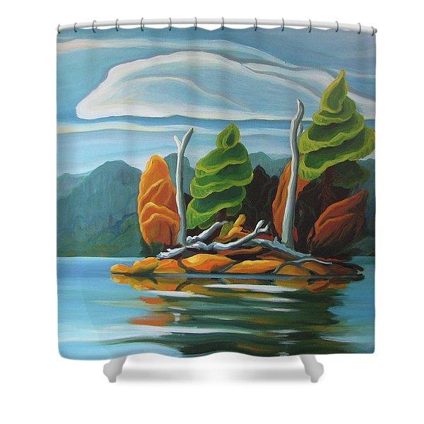 Northern Island Shower Curtain