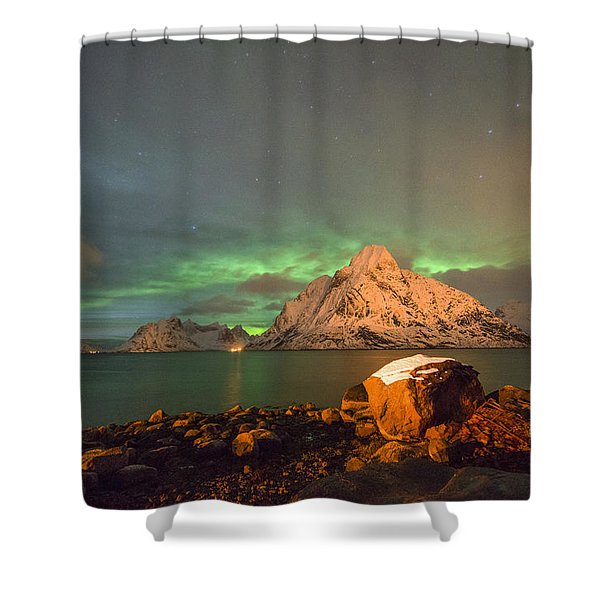 Spectacular Night In Lofoten 3 Shower Curtain