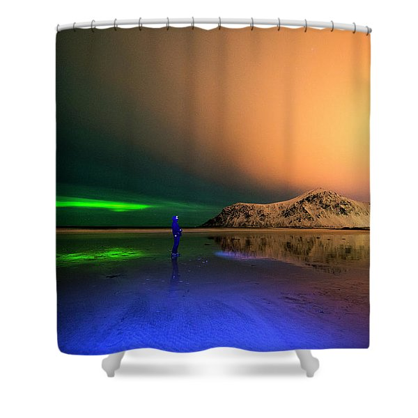 Northern Light In Lofoten, Nordland 4 Shower Curtain