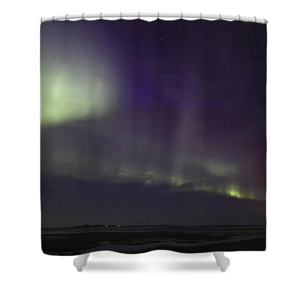 Northern Lights Near Yorkton Shower Curtain