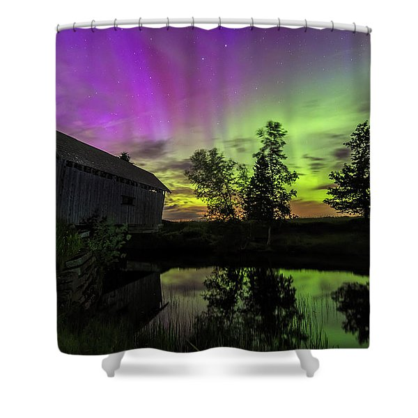 Northern Lights Reflection Shower Curtain