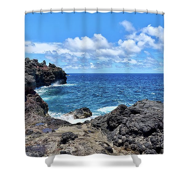 Northern Maui Rocky Coastline Shower Curtain
