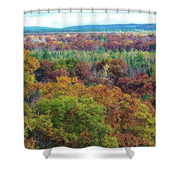 Northern Michigan Fall Shower Curtain