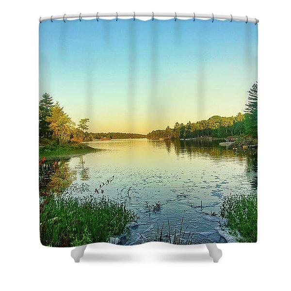 Northern Ontario Lake Shower Curtain