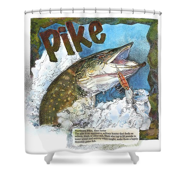Northerrn Pike Shower Curtain