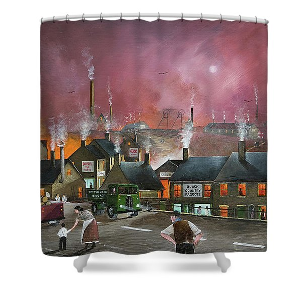 Shower Curtain featuring the painting Northfield Road, Netherton by Ken Wood