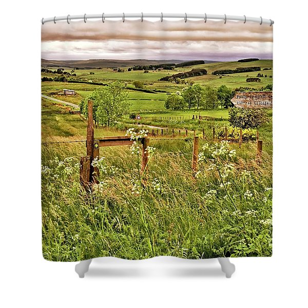 Northumberland Landscape Shower Curtain