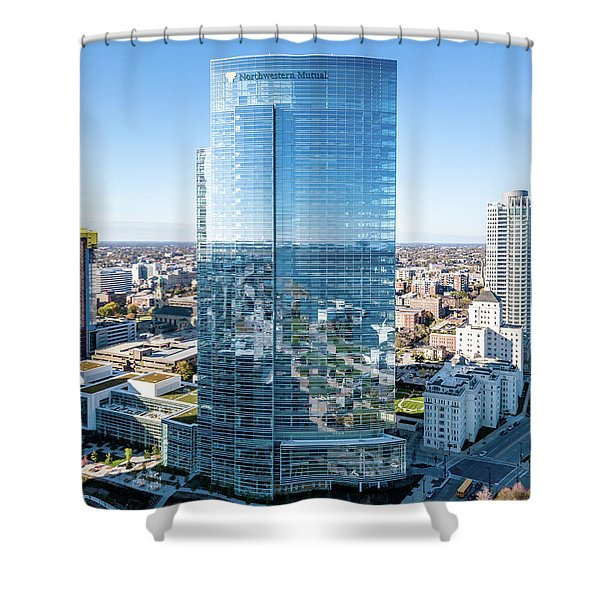 Northwestern Mutual Tower Shower Curtain