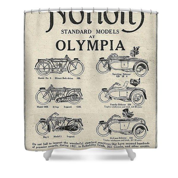 Norton Vintage Poster Shower Curtain
