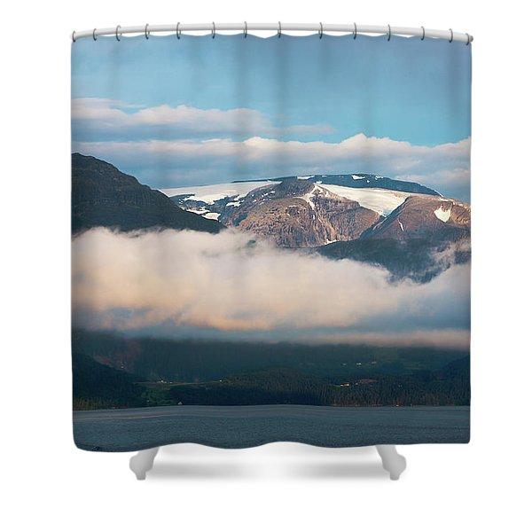 Norway Fjord Innvikfjorden Shower Curtain