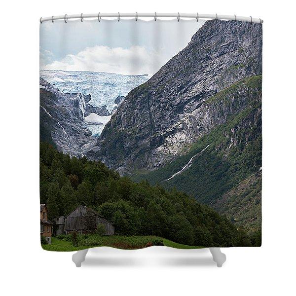 Norway Glacier Jostedalsbreen Shower Curtain