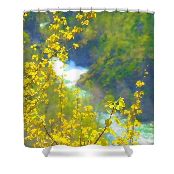 Norwegian Spring Shower Curtain