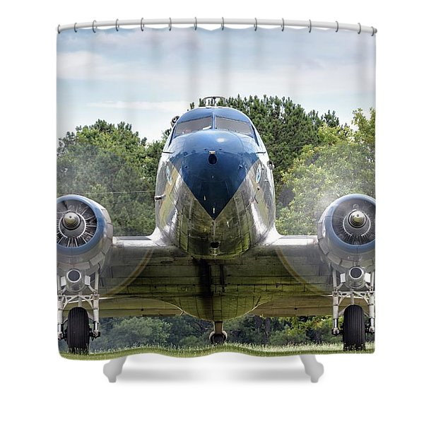 Nose To Nose With A Dc-3 Shower Curtain