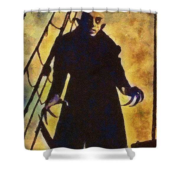 Nosferatu, Classic Vintage Horror Shower Curtain