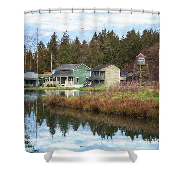Nostalgia - Hope Valley Art Shower Curtain