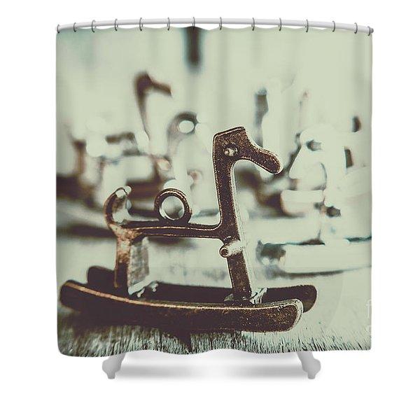 Nostalgic Horse Charm Shower Curtain