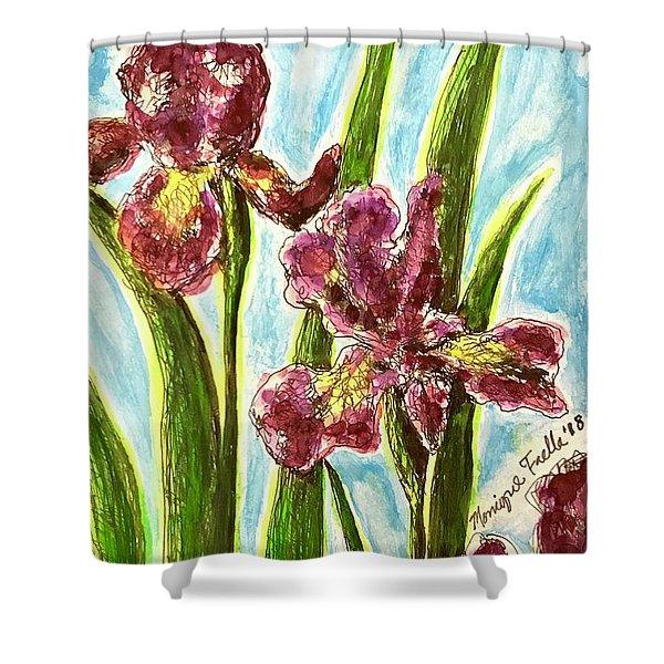 Nostalgic Irises Shower Curtain