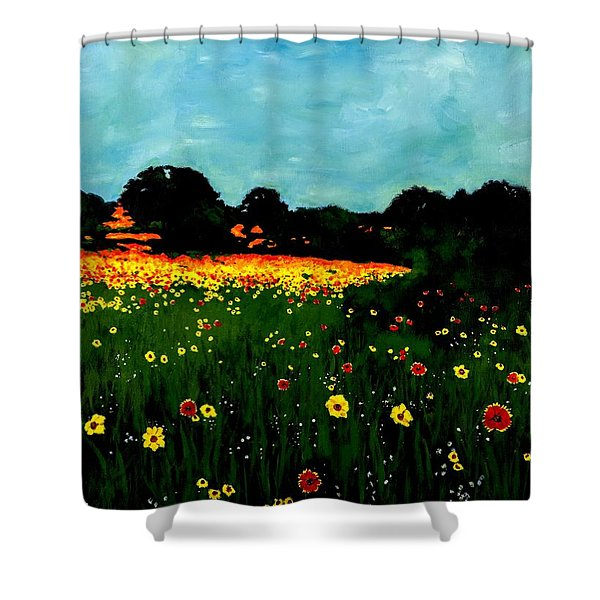 Not Another Bluebonnet Painting Shower Curtain