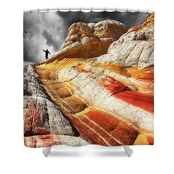 Nothing Is Ours But Time 3 Shower Curtain