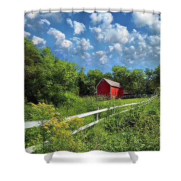Noticing The Days Hurrying By Shower Curtain