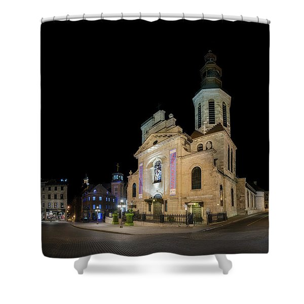 Notre-dame De Quebec Basilica-cathedral At Night Shower Curtain
