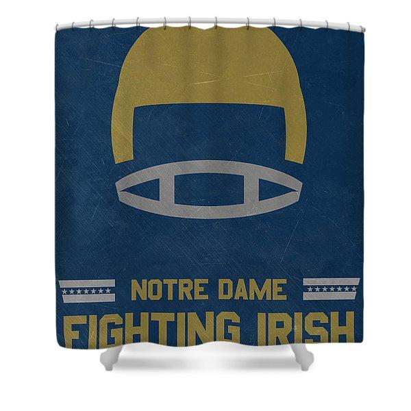 Notre Dame Fighting Irish Vintage Football Art Shower Curtain