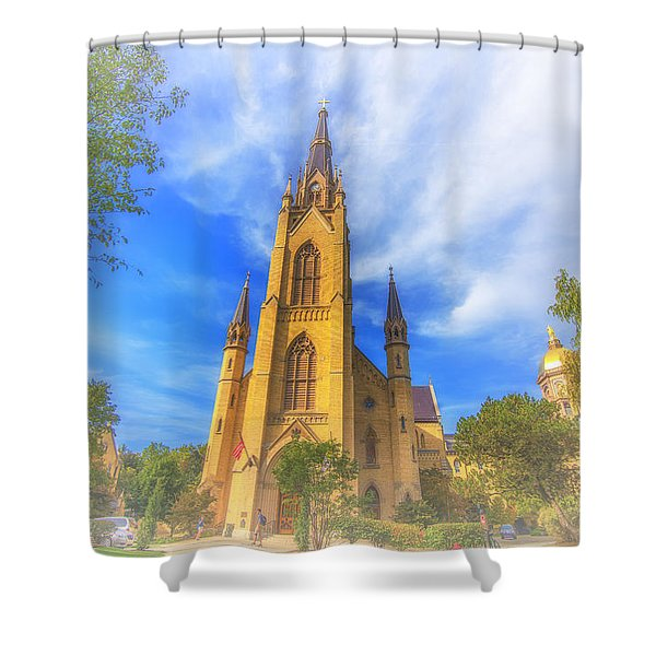 Notre Dame University 5 Shower Curtain