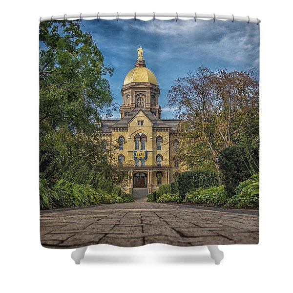 Notre Dame University Q1 Shower Curtain